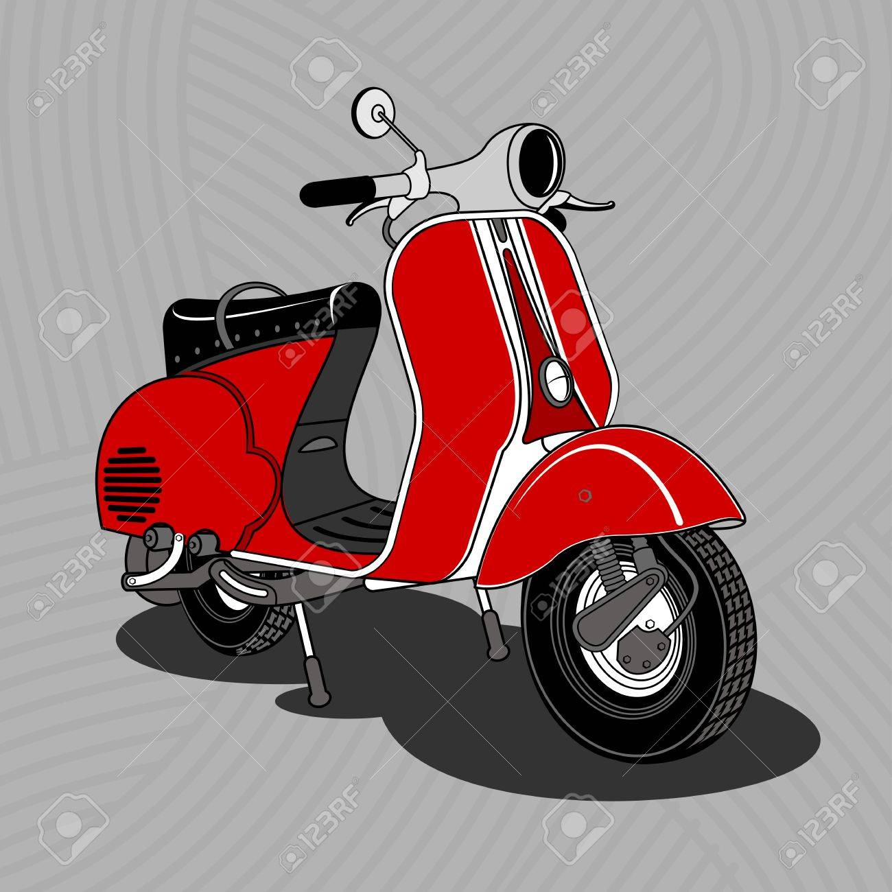 Vector Illustration Of Vintage Scooter Emblems And Label Scooter Royalty Free Cliparts Vectors And Stock Illustration Image 70446814