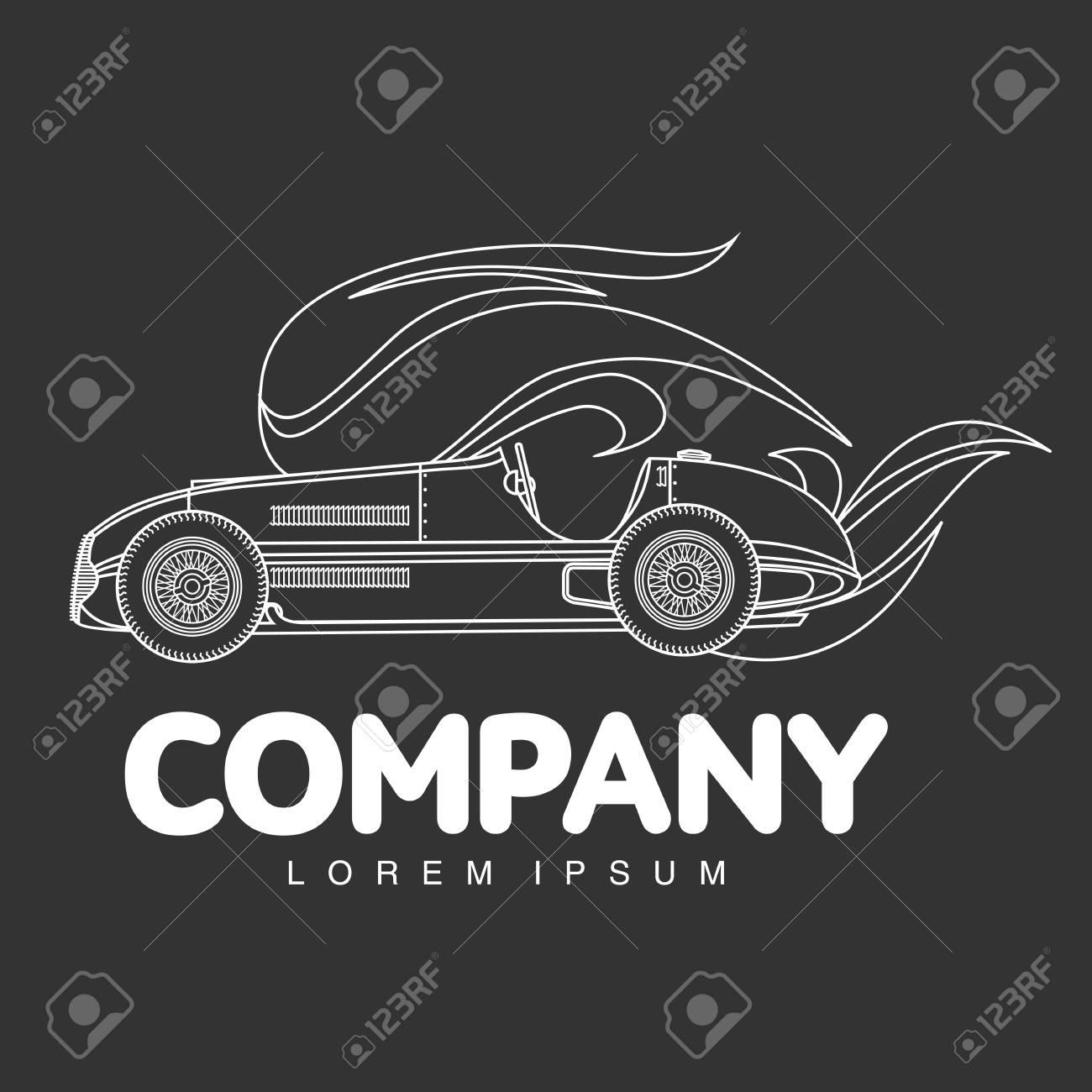 Elegant Sport Racing Car Logo Templates Vintage Style Sport