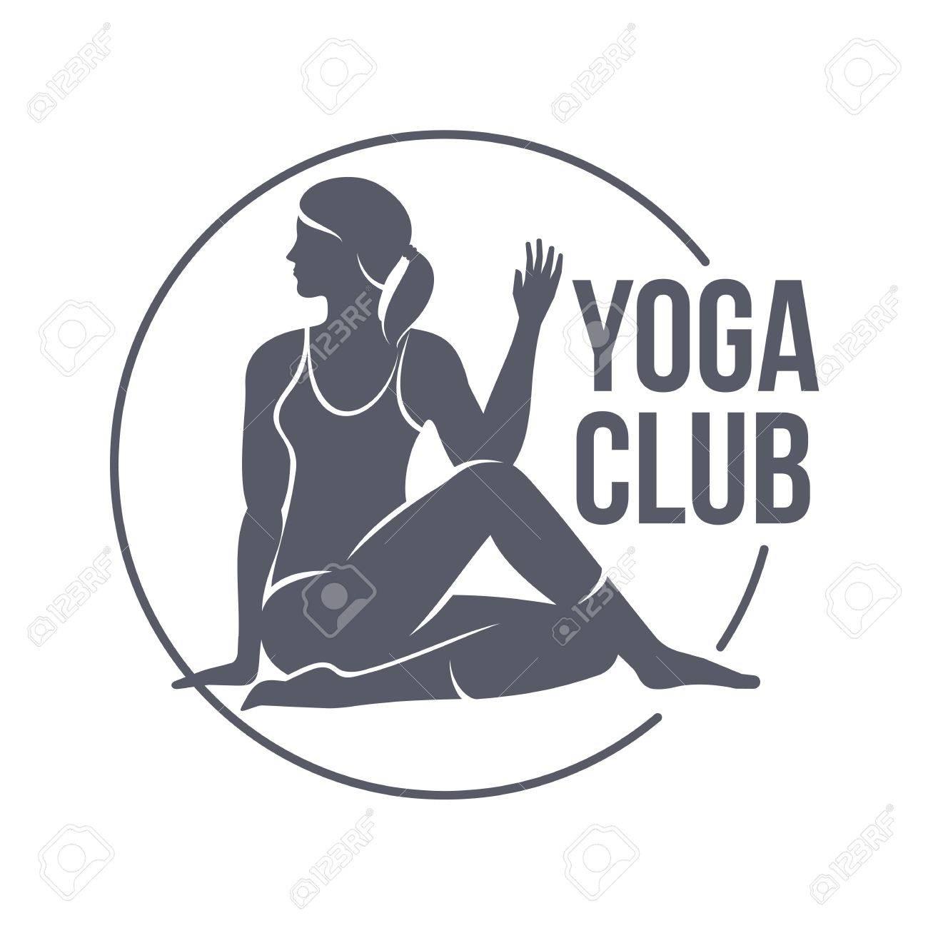 Yoga Club Logo Vorlagen. Fitness, Aerobic, Trainingsübungen Im ...