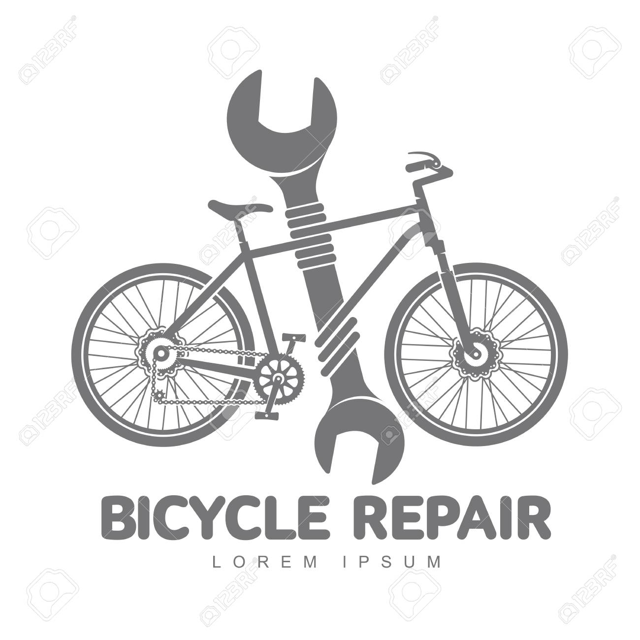 Bicycle Repair Workshop Vector Logo Template For Your Design ...