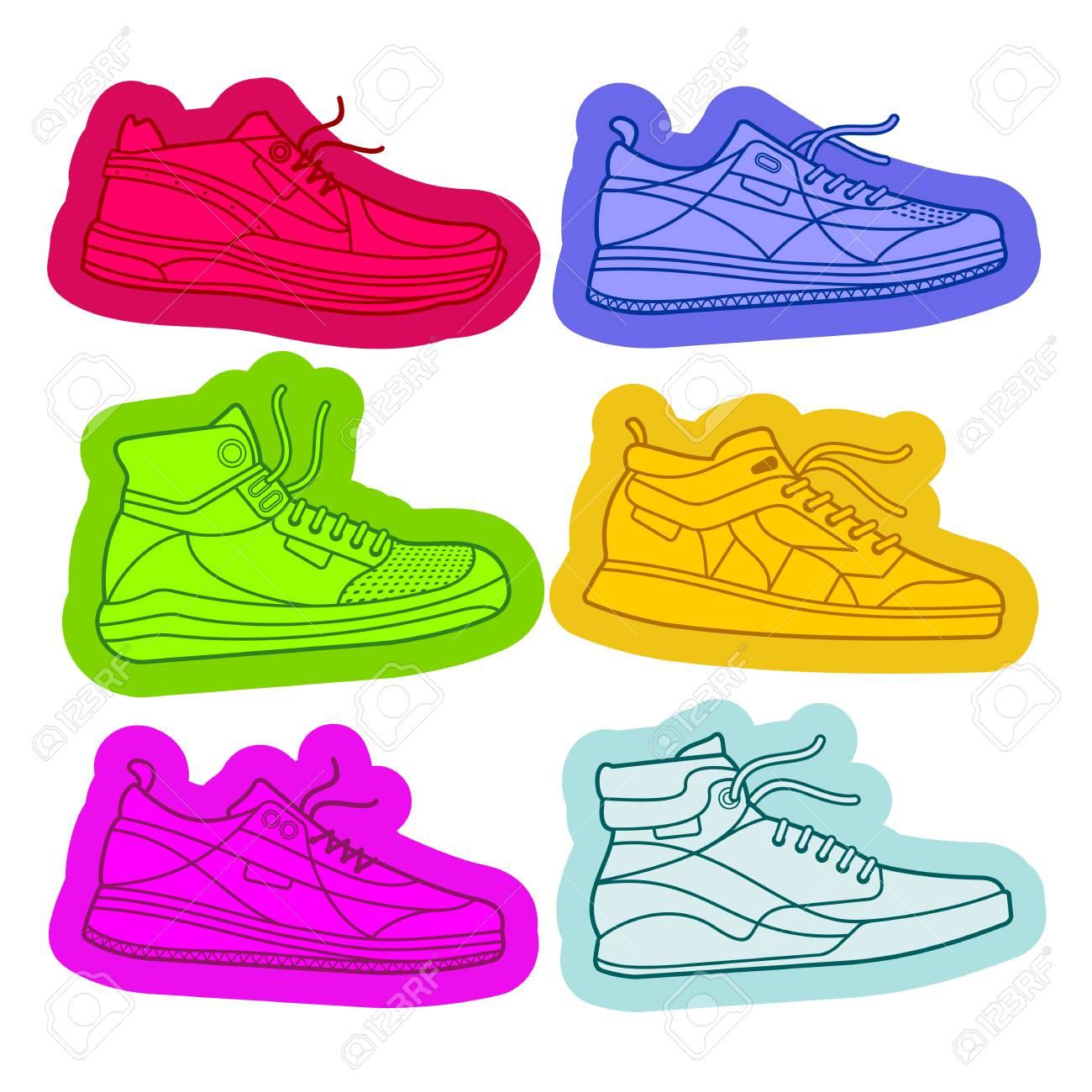 Deporte Zapatos Vectorial 5qgho Ilustración Zapatillas De cR5qj3AL4