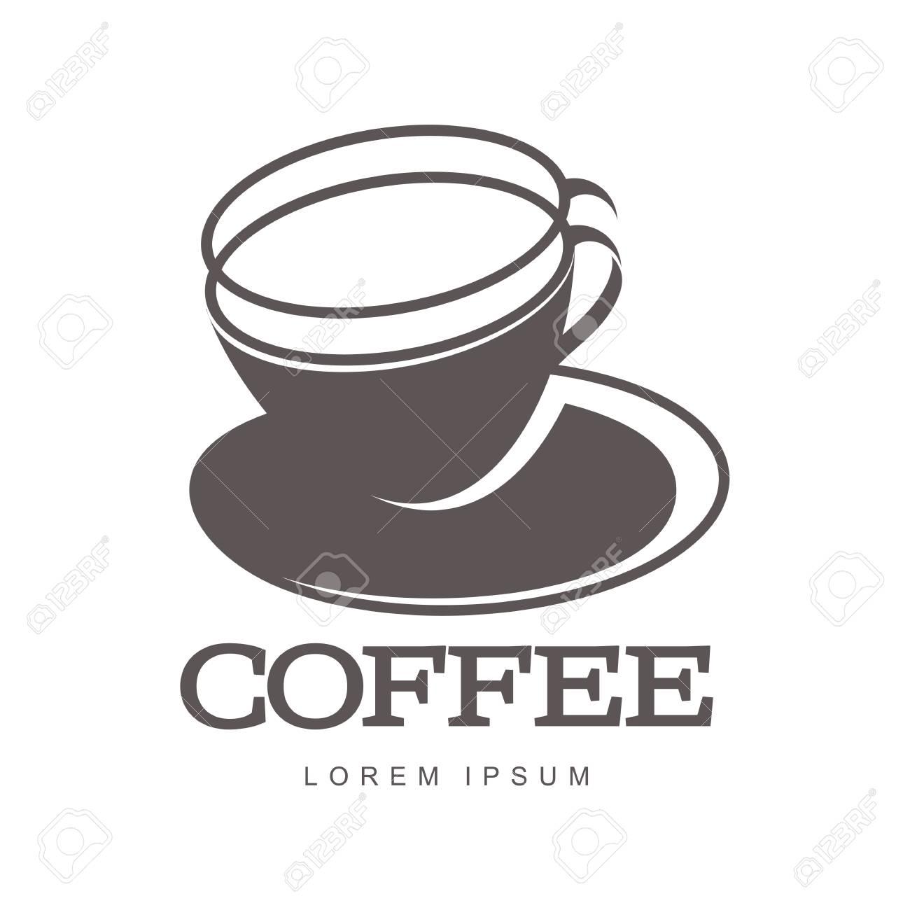 Heiße Tasse Kaffee Logo Vorlagen. Abstraktes Farbenlogo Mit Zwei ...