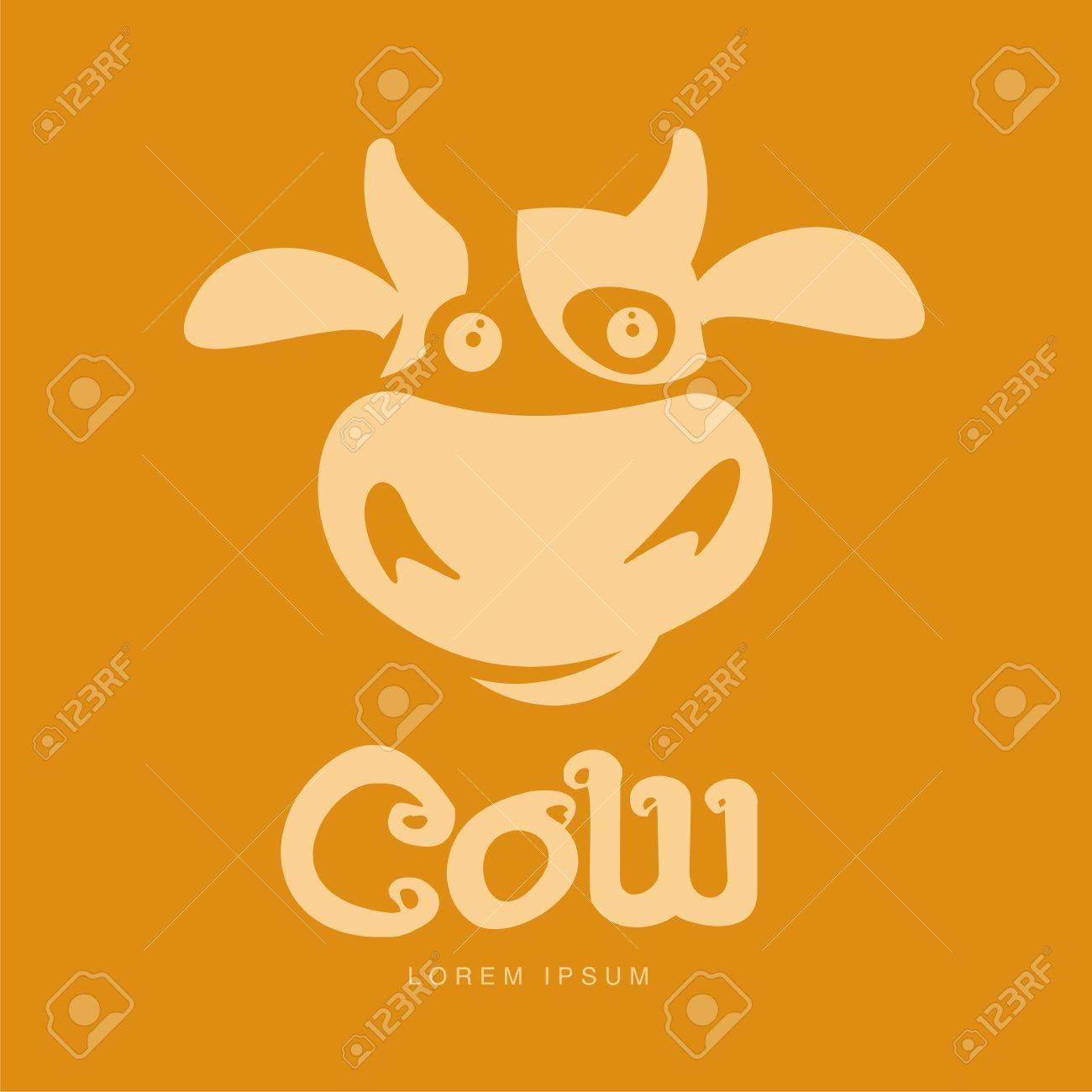 funny cow head logo template funny smiling sad cow face for royalty free cliparts vectors and stock illustration image 74729411 123rf com