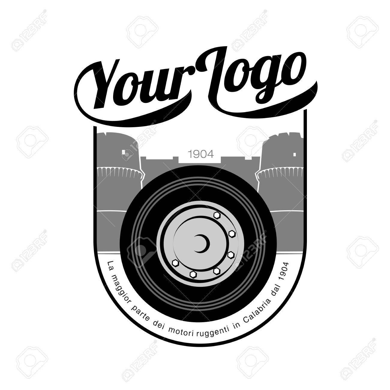 Elegante Oldtimer Rad Logo Vorlagen. Abzeichen Und Etiketten ...