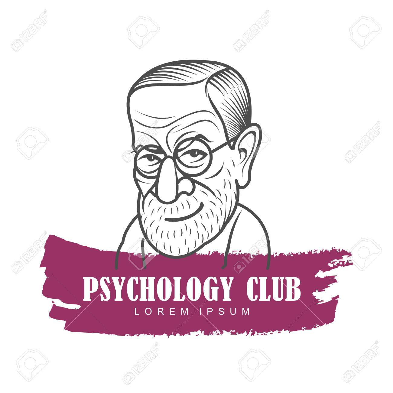 Vector Cartoon Caricature Portrait Of Sigmund Freud. Vector Template ...