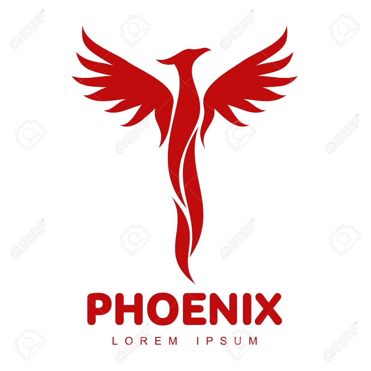 stylized graphic phoenix bird logo templates collection of creative rh 123rf com phoenix bird logo hd phoenix bird logo free