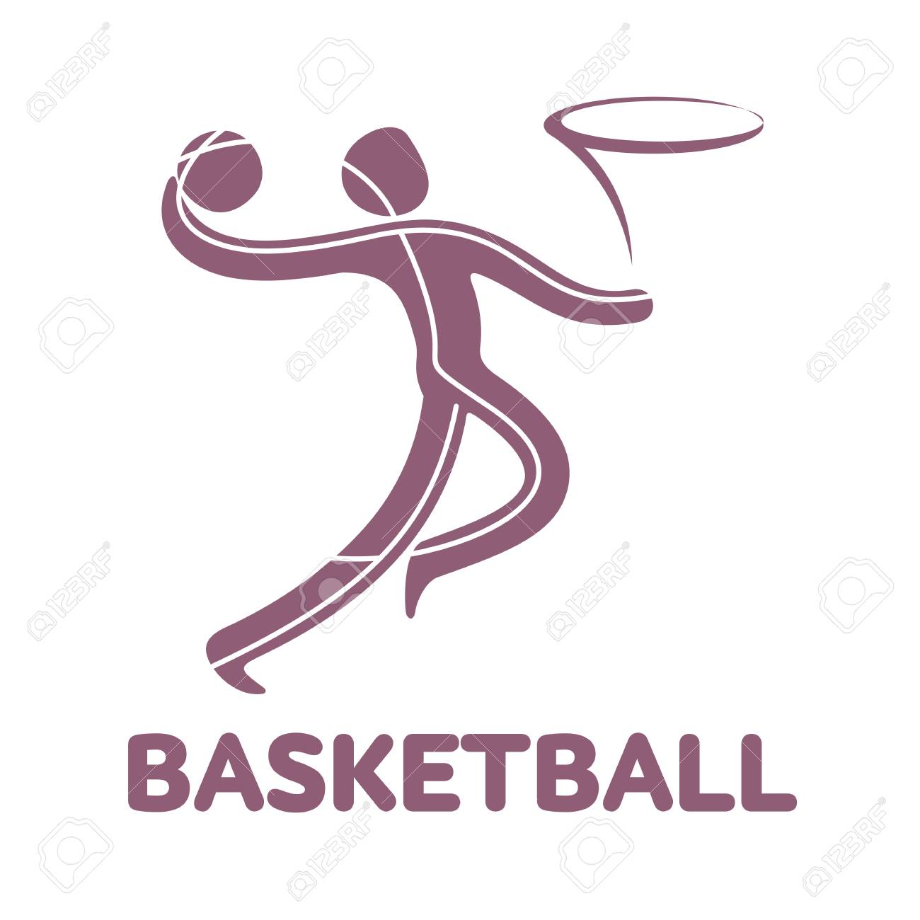 Basketballsport Game Competition Icon. Summer Sport Games Symbols ...