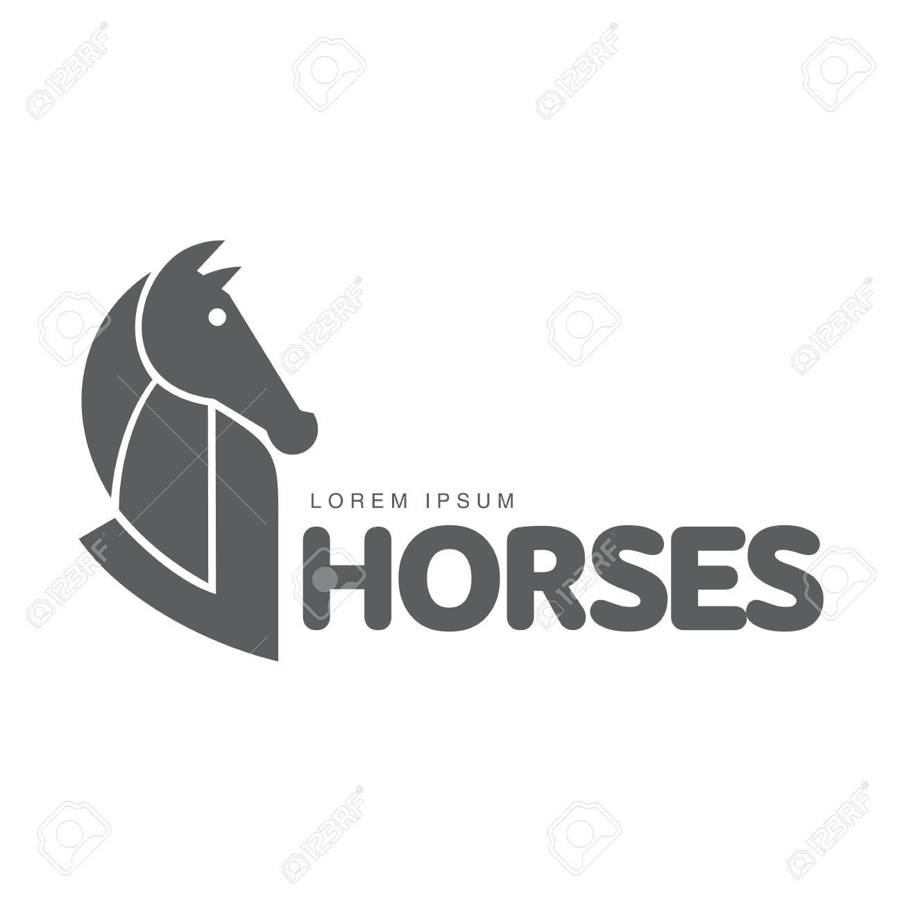 Horse Profile Graphic Logo Template Vector Illustration On White