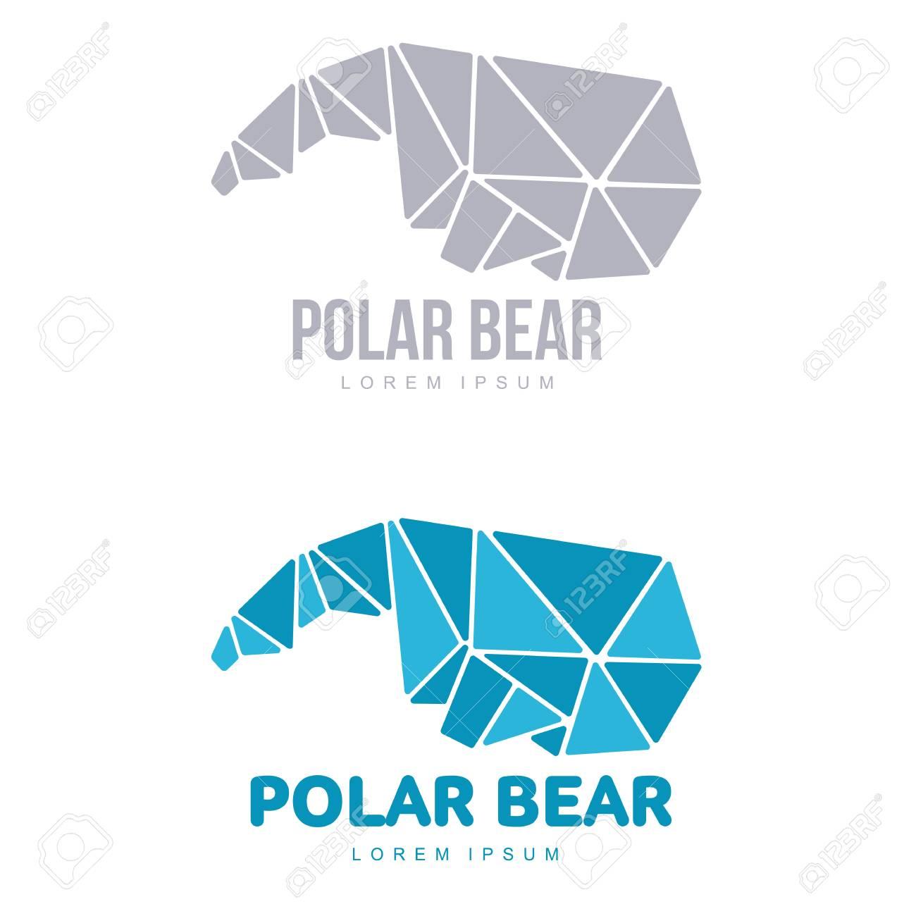 Stilisierte Grafik Eisbär Symbol Vorlagen. Sammlung Kreative ...