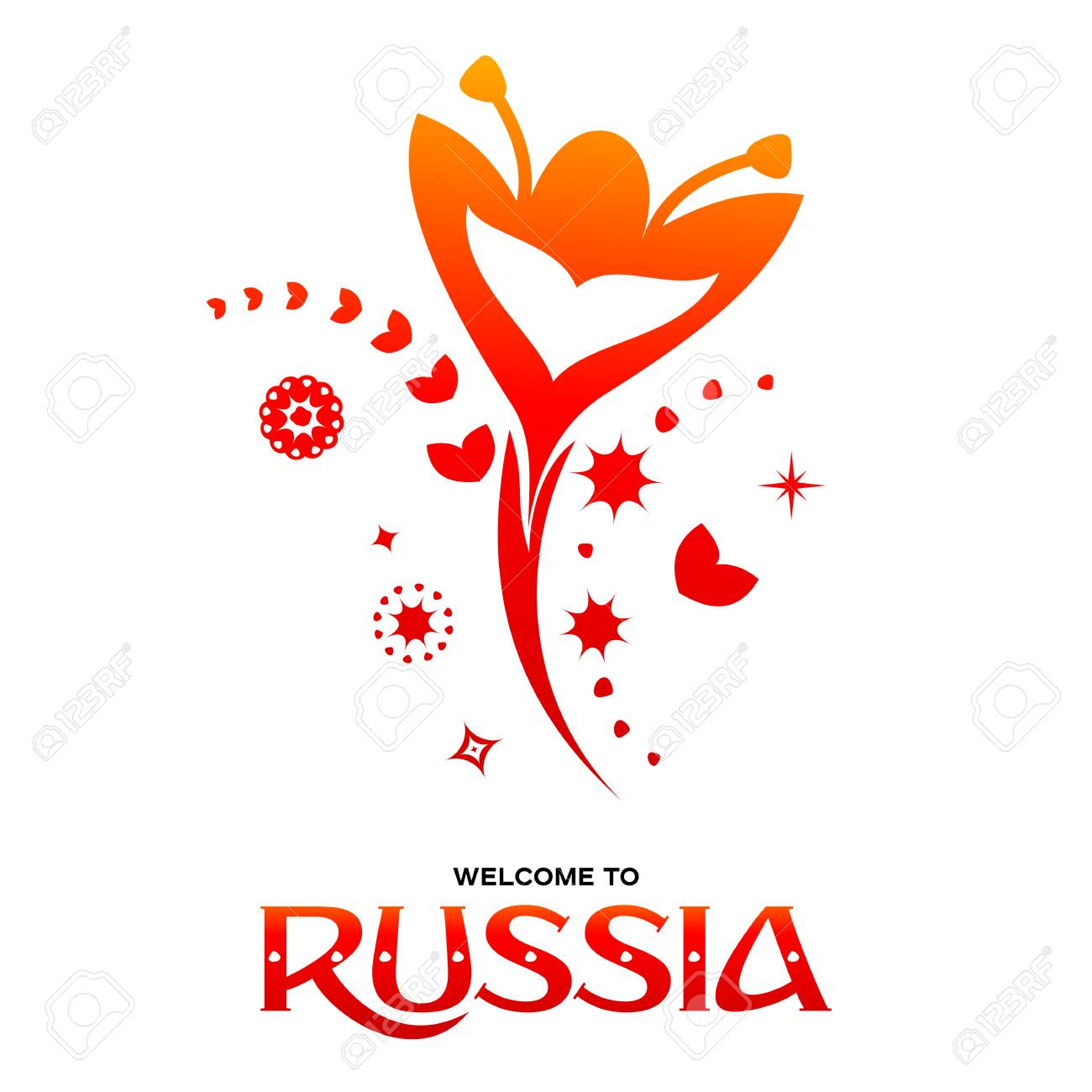 Lettering Welcome To Russia World Of Russia Modern And Traditional