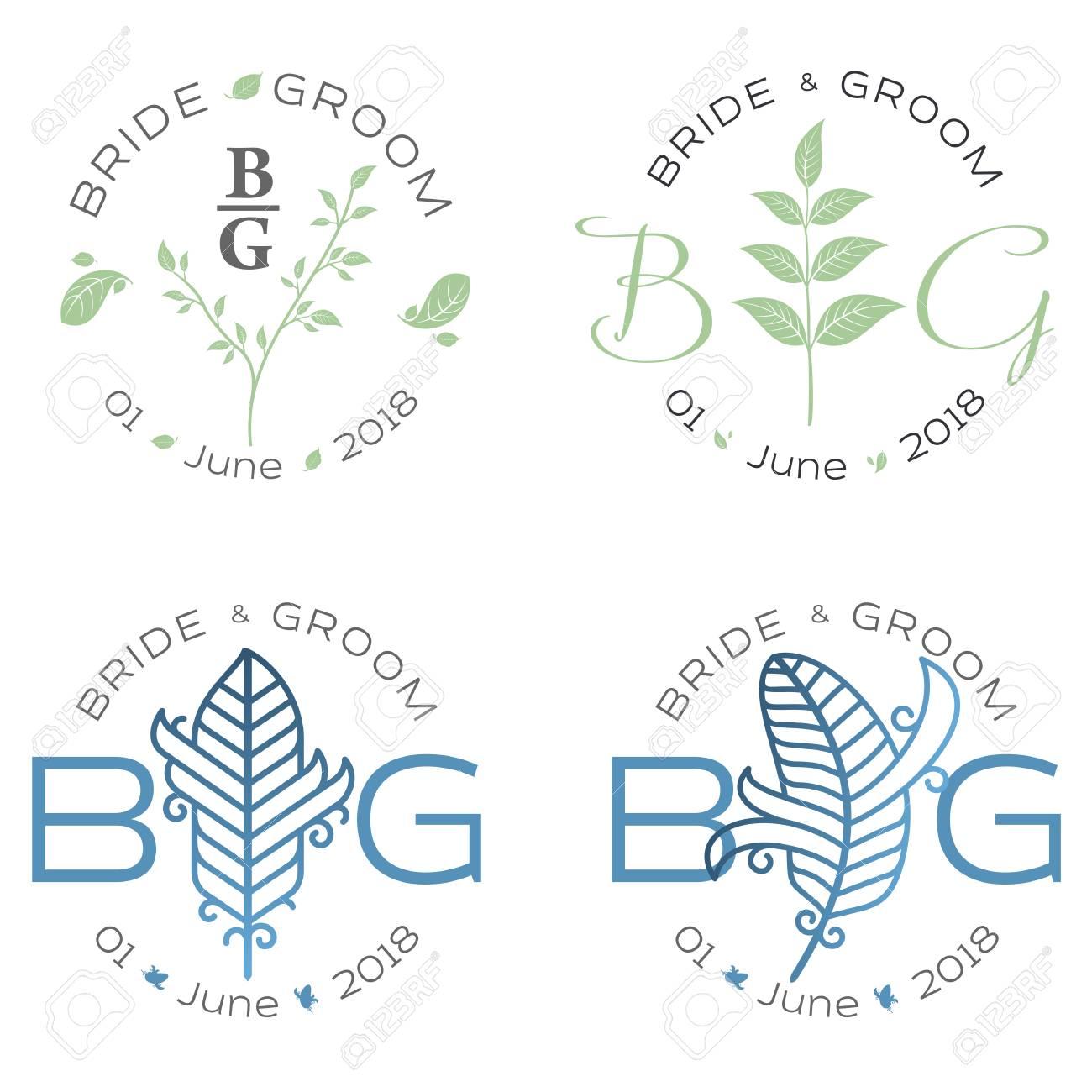 elegant design templates for wedding card wedding logo for business