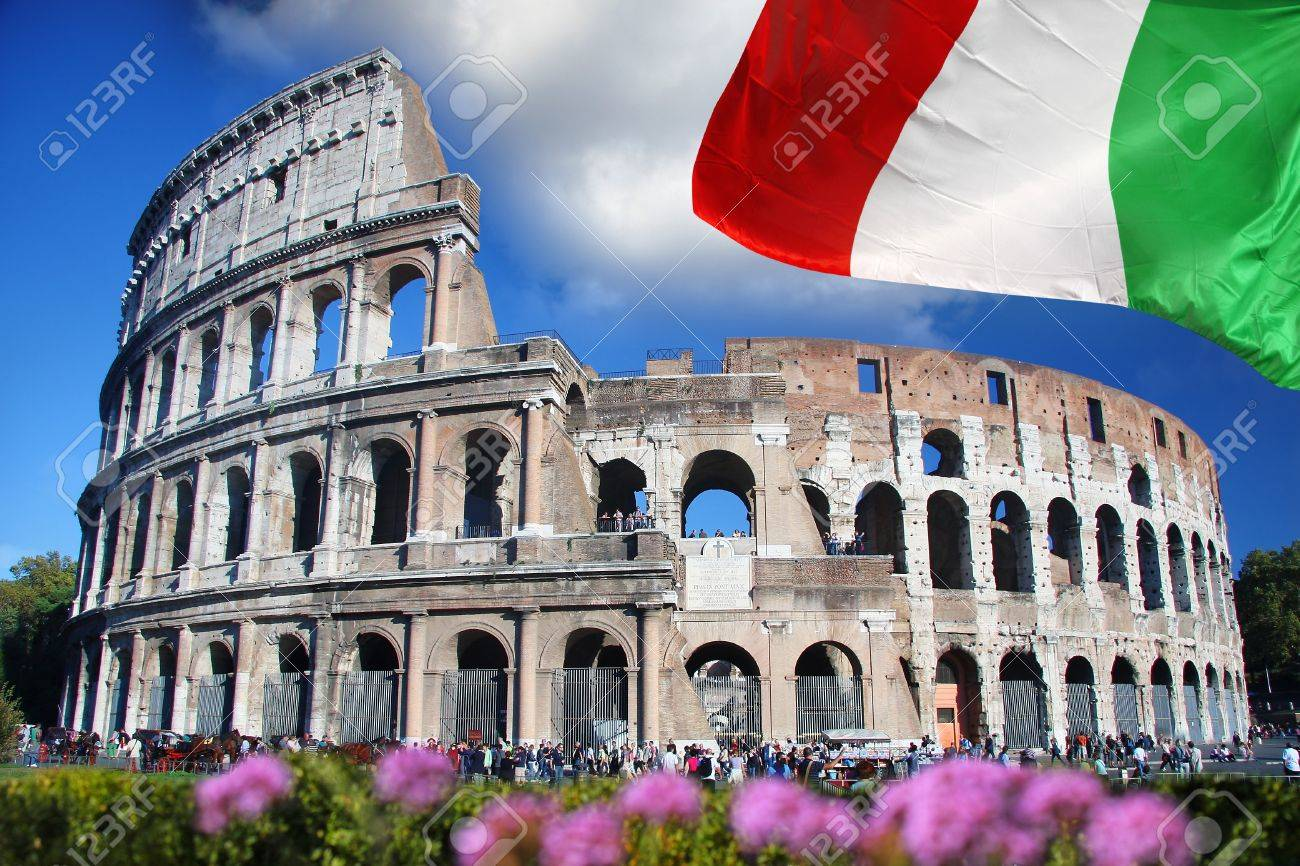 Famous Colosseum in Rome, Italy - 15419143