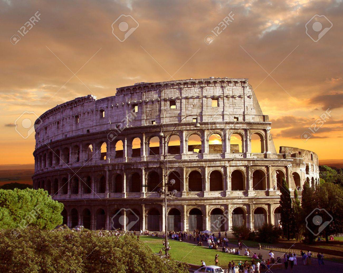 Famous Colosseum in Rome, Italy - 17773409