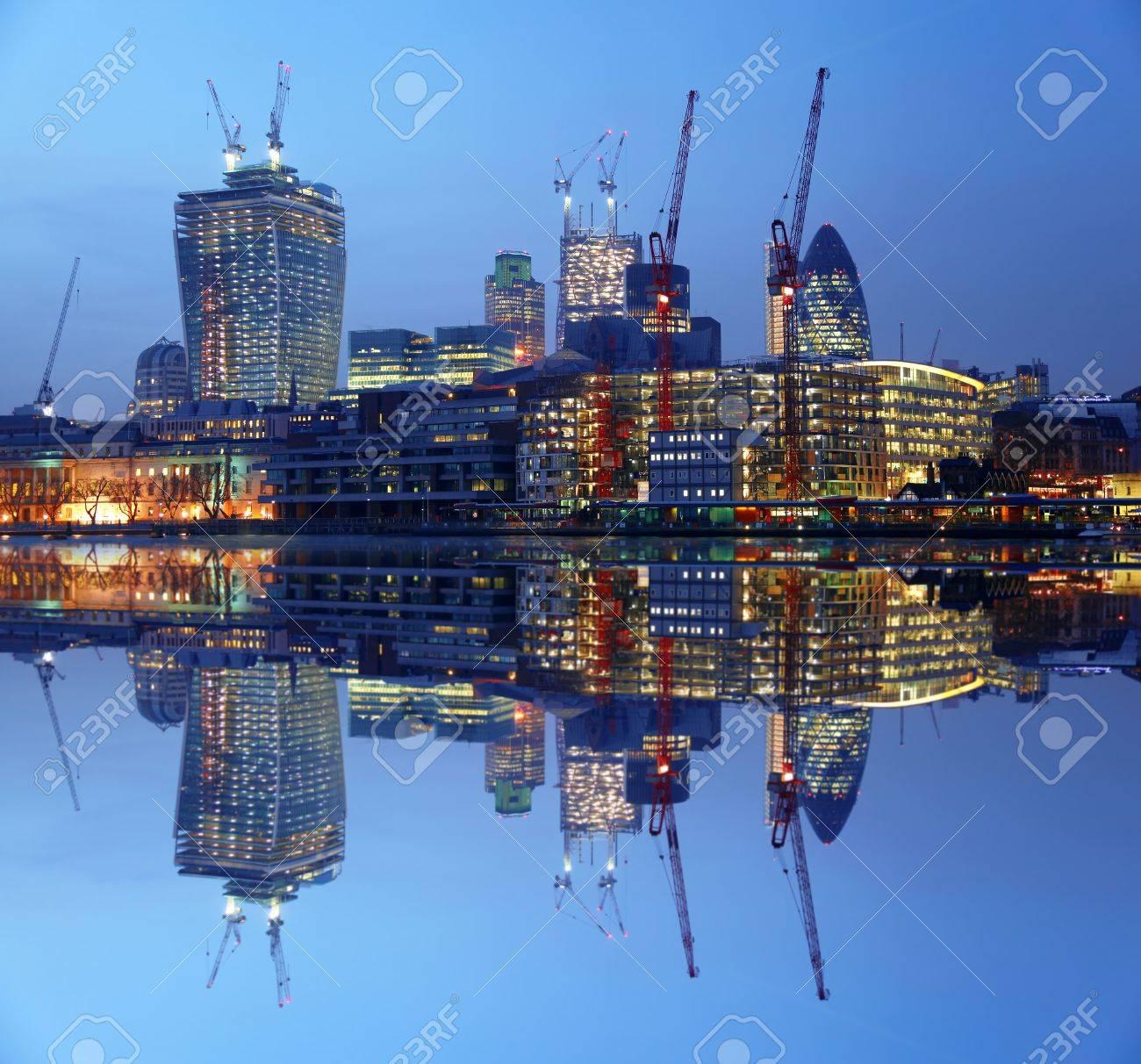 Modern London cityscape in LONDON, UK - 19181413