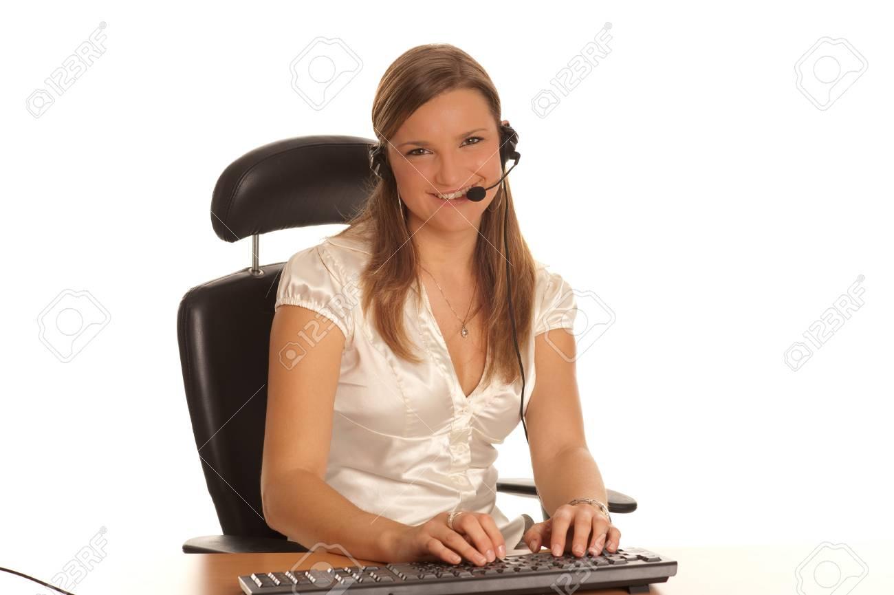 Cute secretary Stock Photo - 8125837