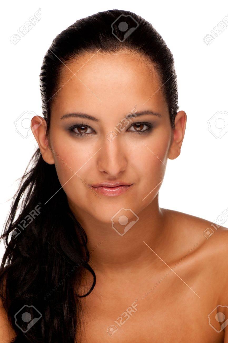 Beauty portrait of a cute brunette caucasian girl Stock Photo - 14977069