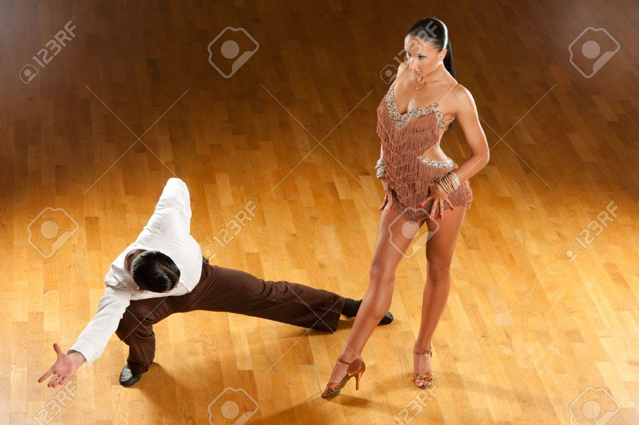 latino dance couple in action Stock Photo - 15365839