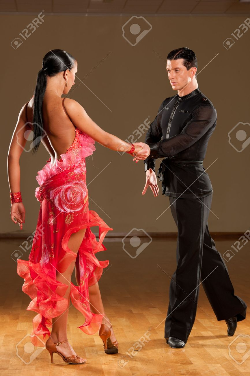 latino dance couple in action Stock Photo - 15365846