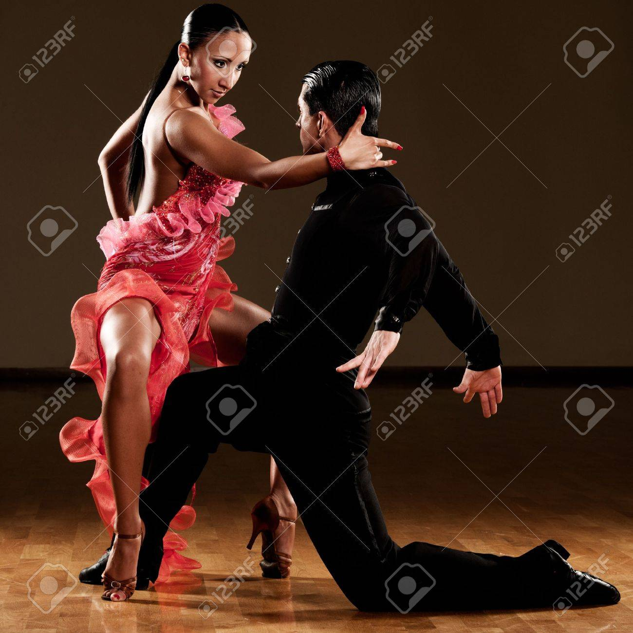 latino dance couple in action Stock Photo - 15365837