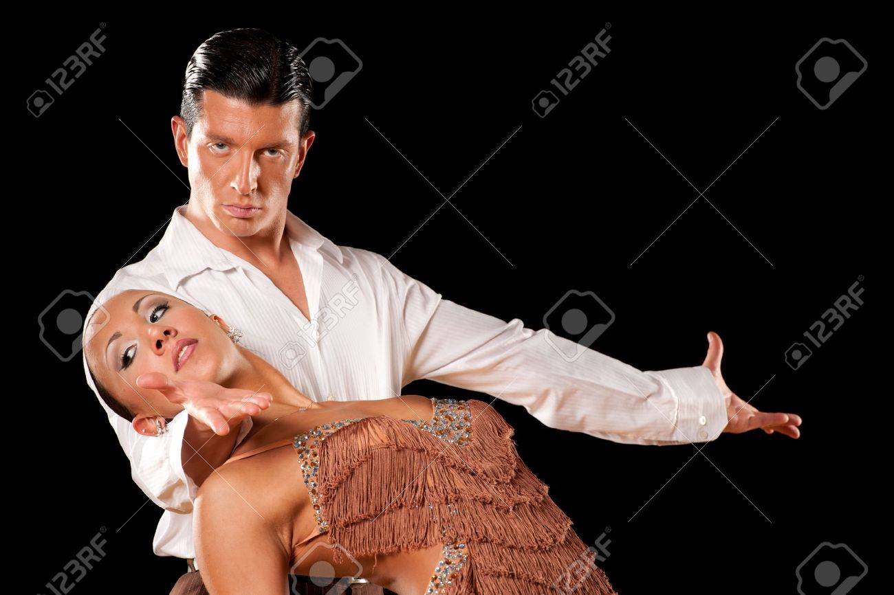 latino dance couple in action Stock Photo - 15365834