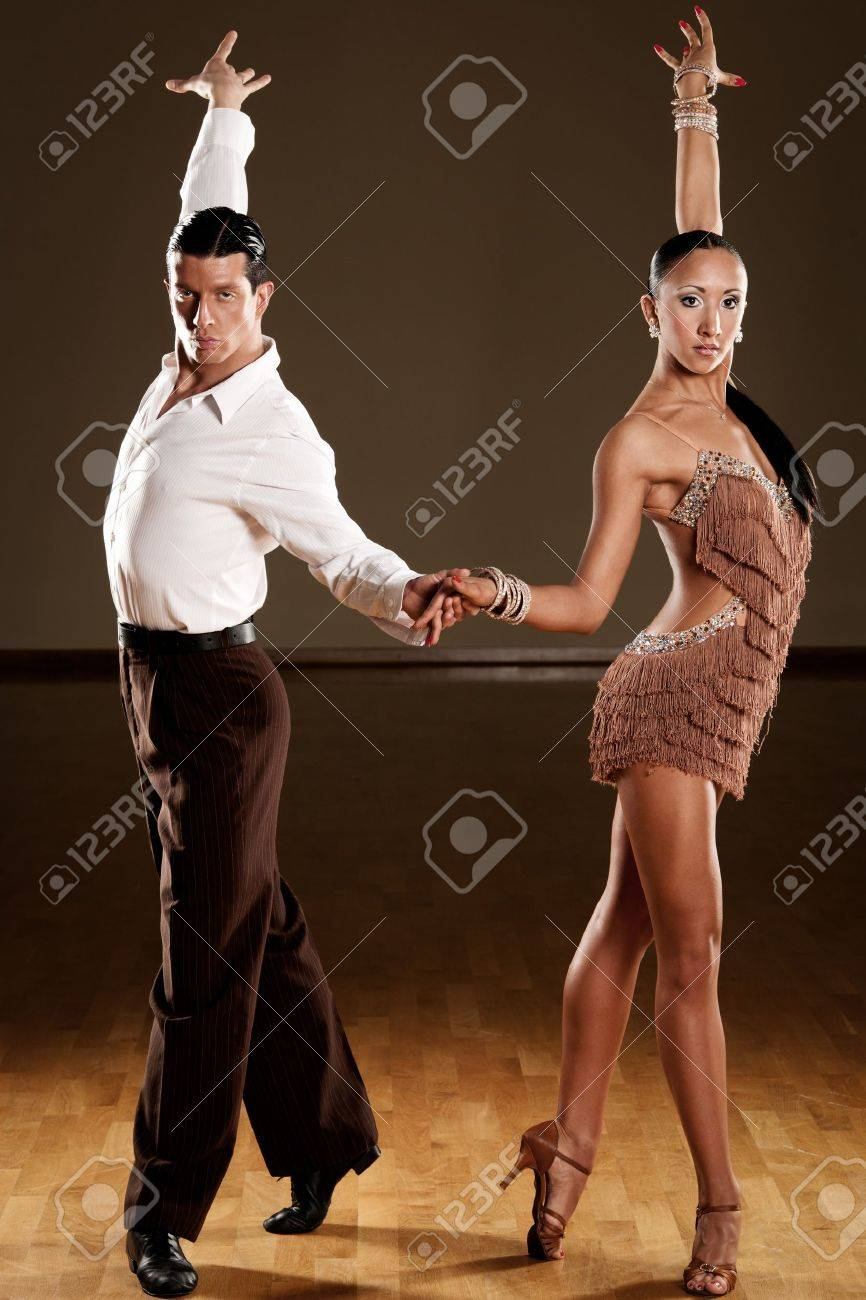 latino dance couple in action Stock Photo - 15365841