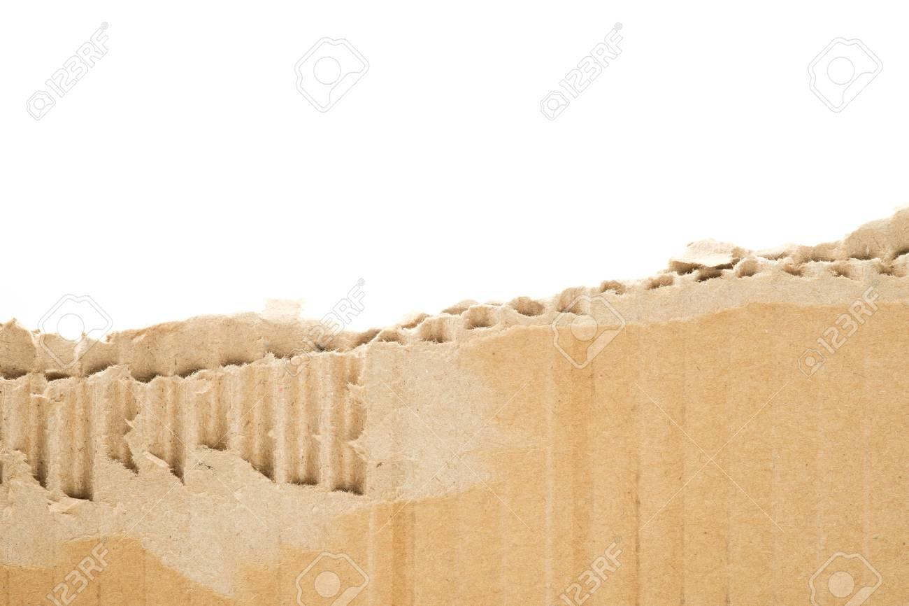 Immagini Stock Cartone Strappato Con Sfondo Bianco Carta Ondulata
