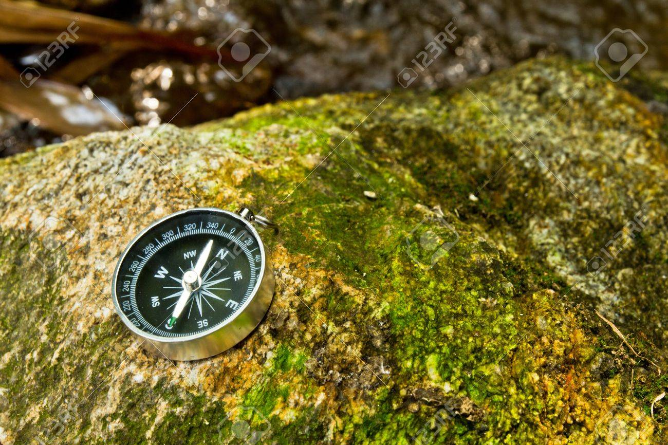 compass on the rock Stock Photo - 11395780