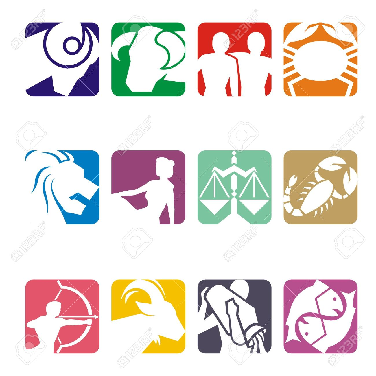 Finding Ways To Work On Your Personal Growth 11737419-Horoscope-symbols-in-2D-graphic-astrology-zodiac-illustration-Stock-Illustration
