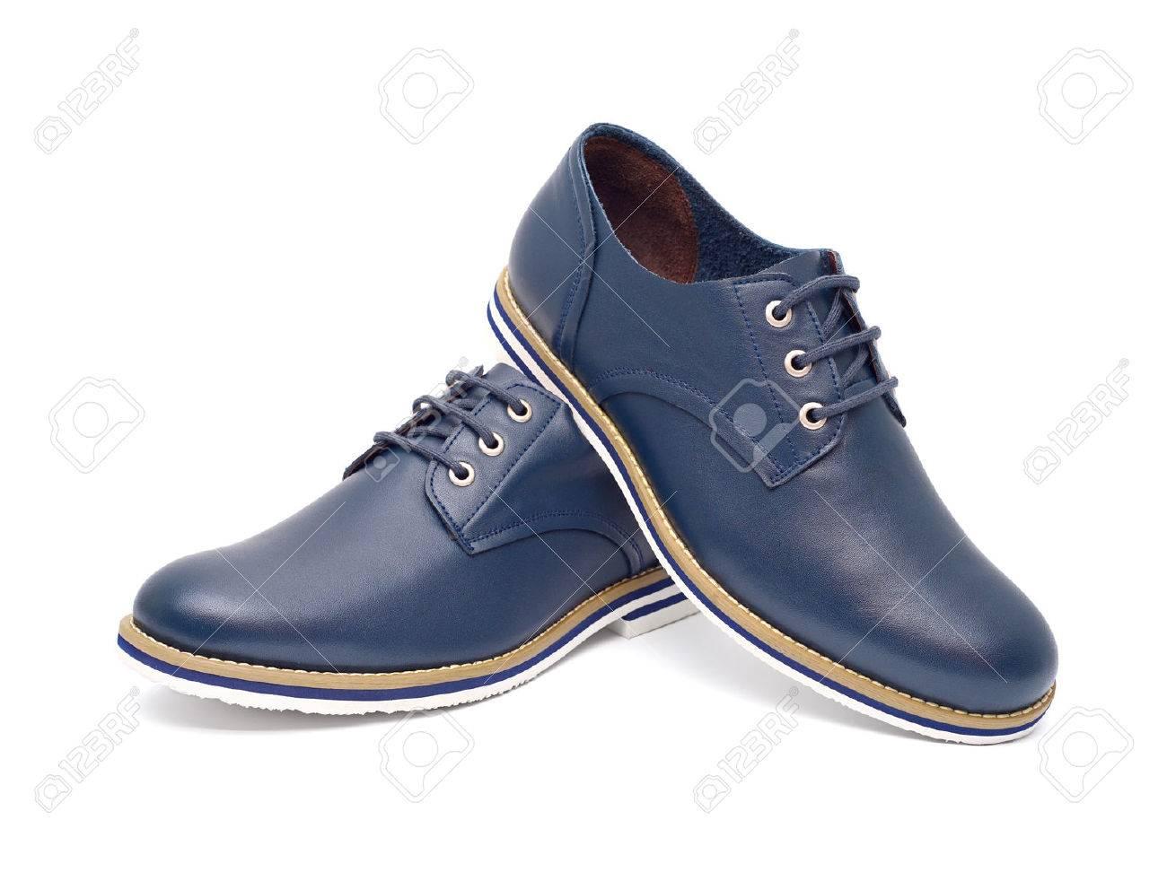 f7b9b4d6a9 Foto de archivo - Zapatos de moda de los hombres de diseño azul