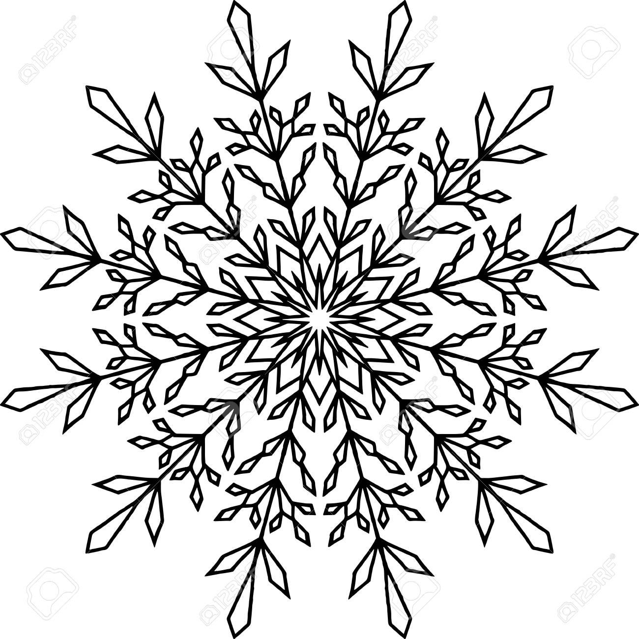 Snowflake Sketch doodle - 92041570