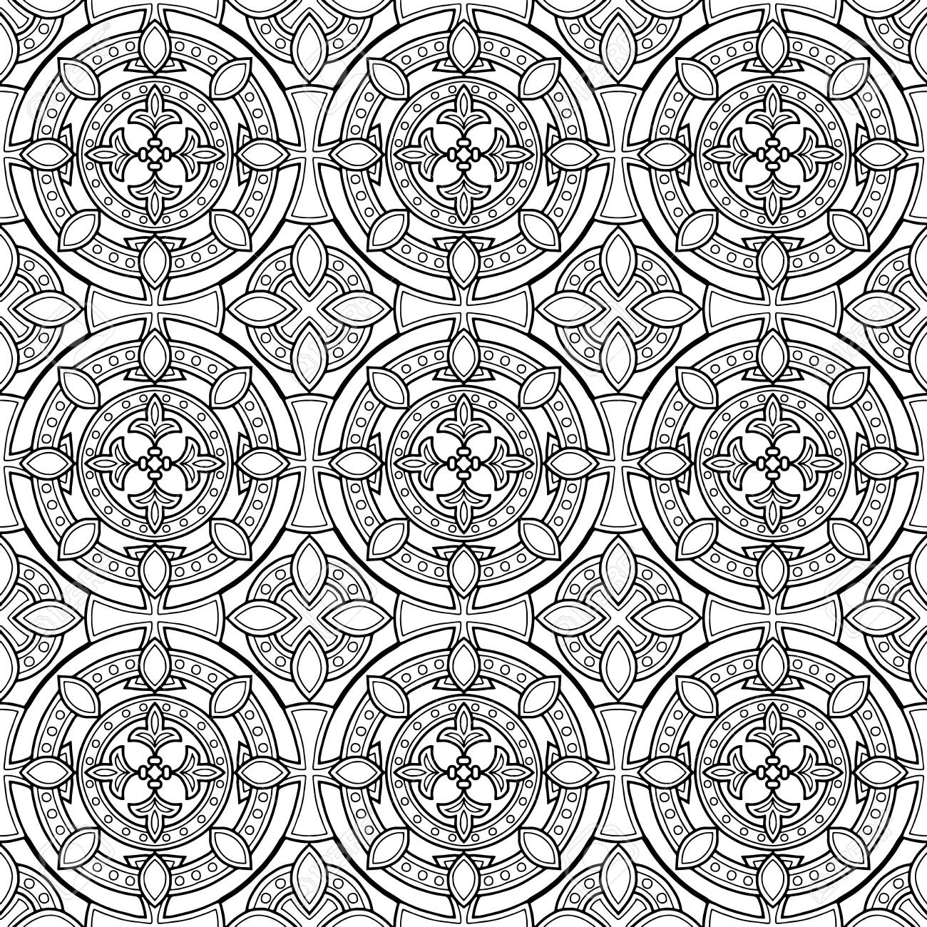 Abstract patterns cross doodles sketch banque dimages 104849656