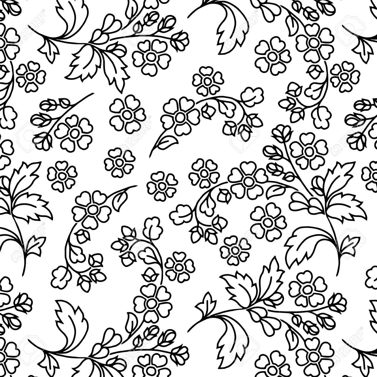 Abstract pattern for coloring doodle Sketch good mood