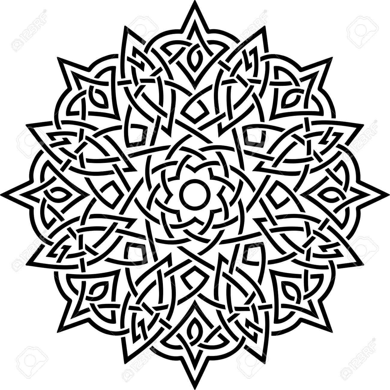 Mandala Pattern Stencil doodles sketch good mood - 167007499