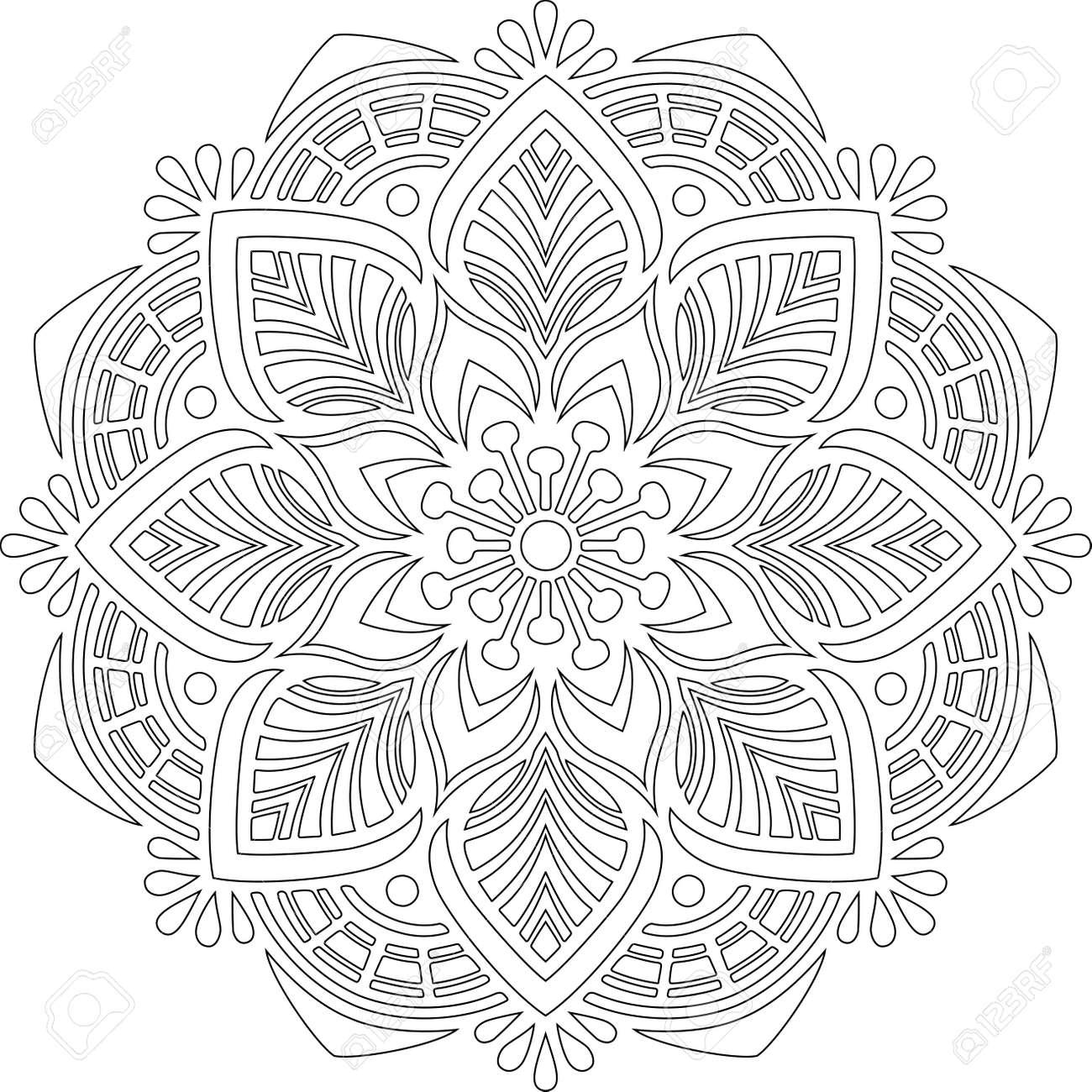 Figure mandala for coloring doodles sketch good mood - 167506518