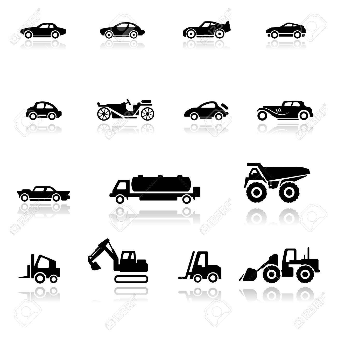 Icon set  Cars and Industrial Vehicles Stock Vector - 9650975
