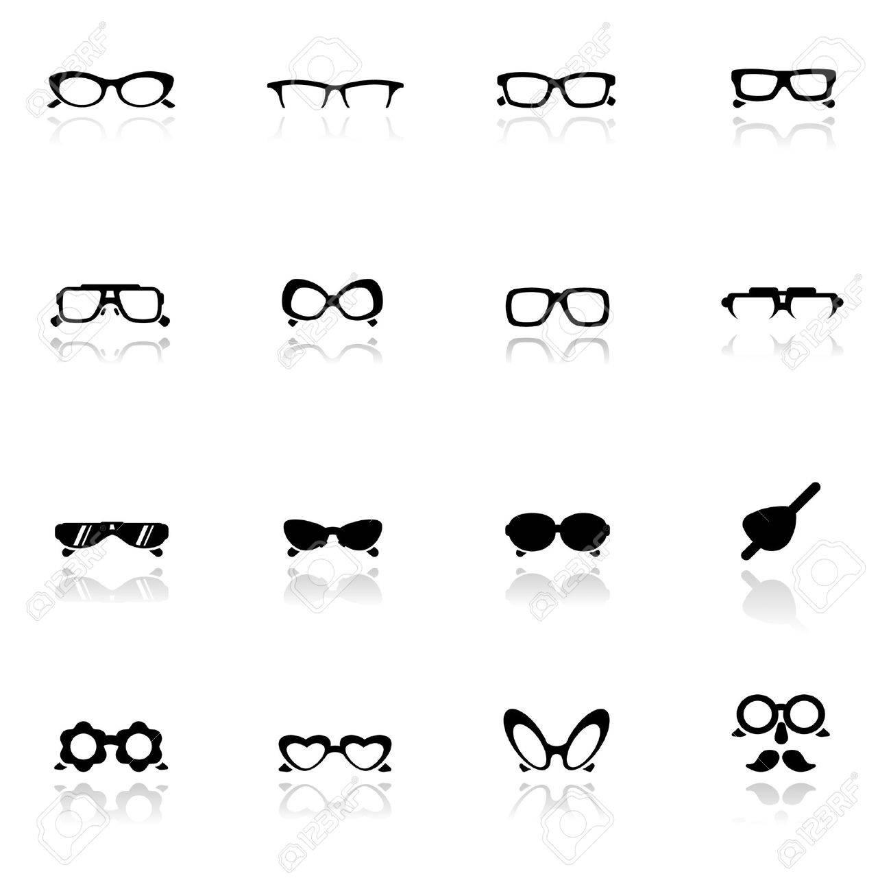 Icons set  Eye glasses Stock Vector - 9650980