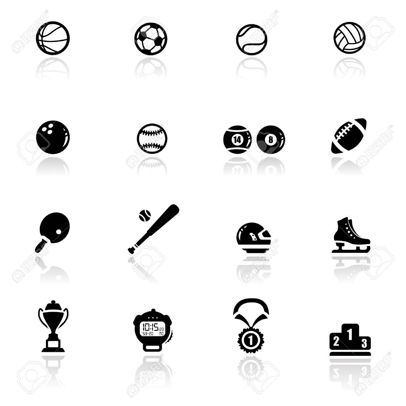 Icons set sports and games Stock Vector - 9650987