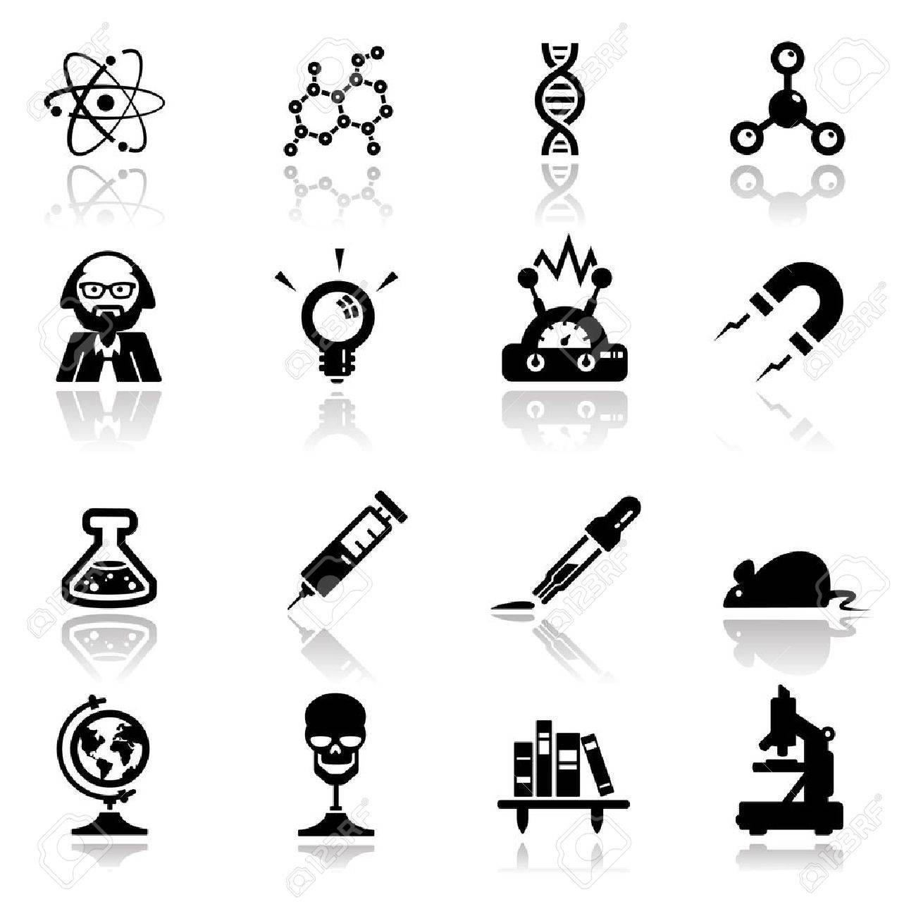 Icons set science and research - 10292219