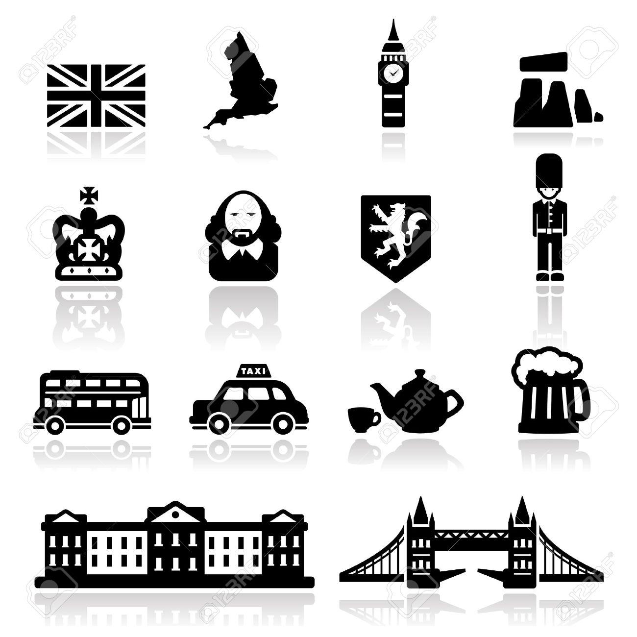 England icons set - Elegant series Stock Vector - 13326194