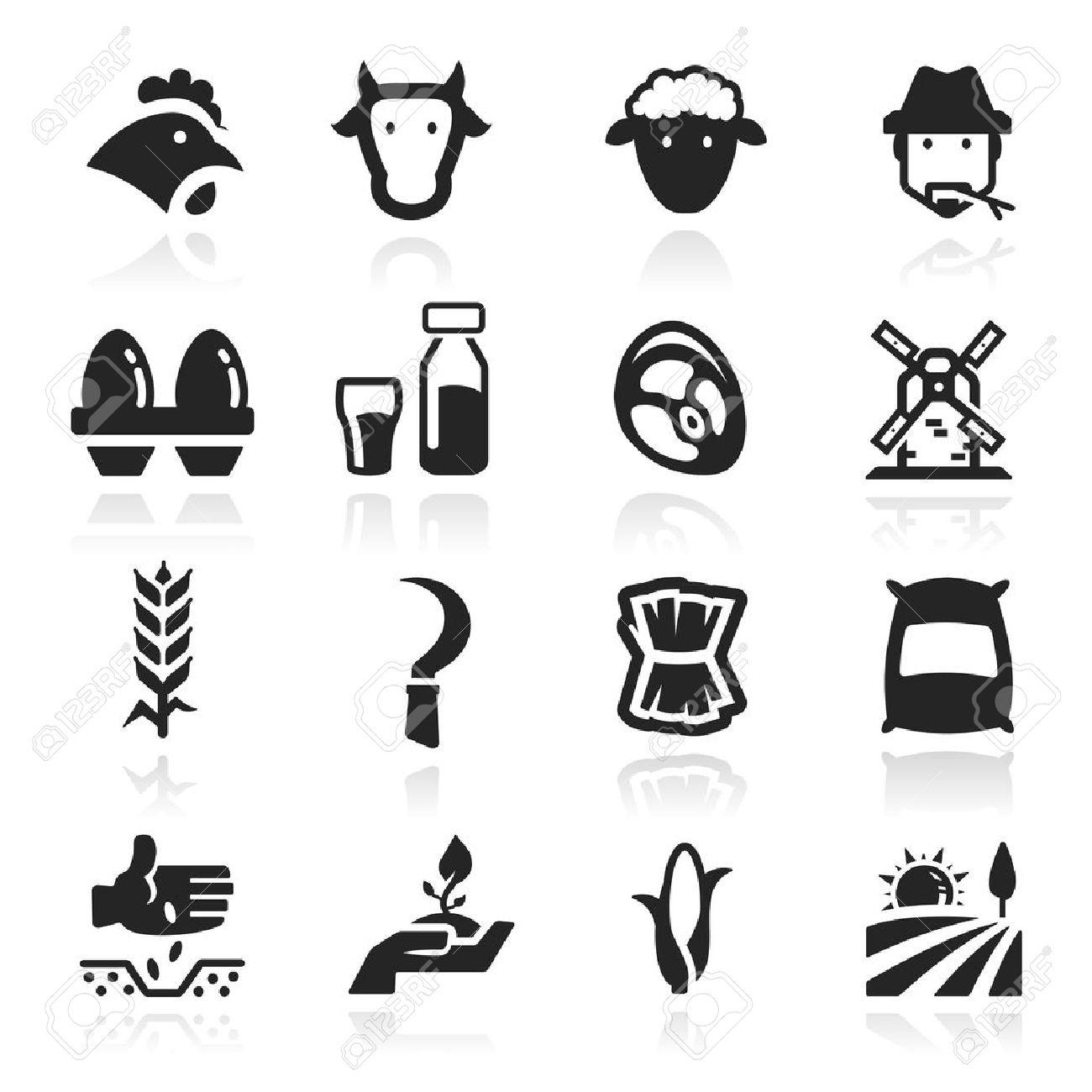 Farm icons set - Elegant series Stock Vector - 12976195