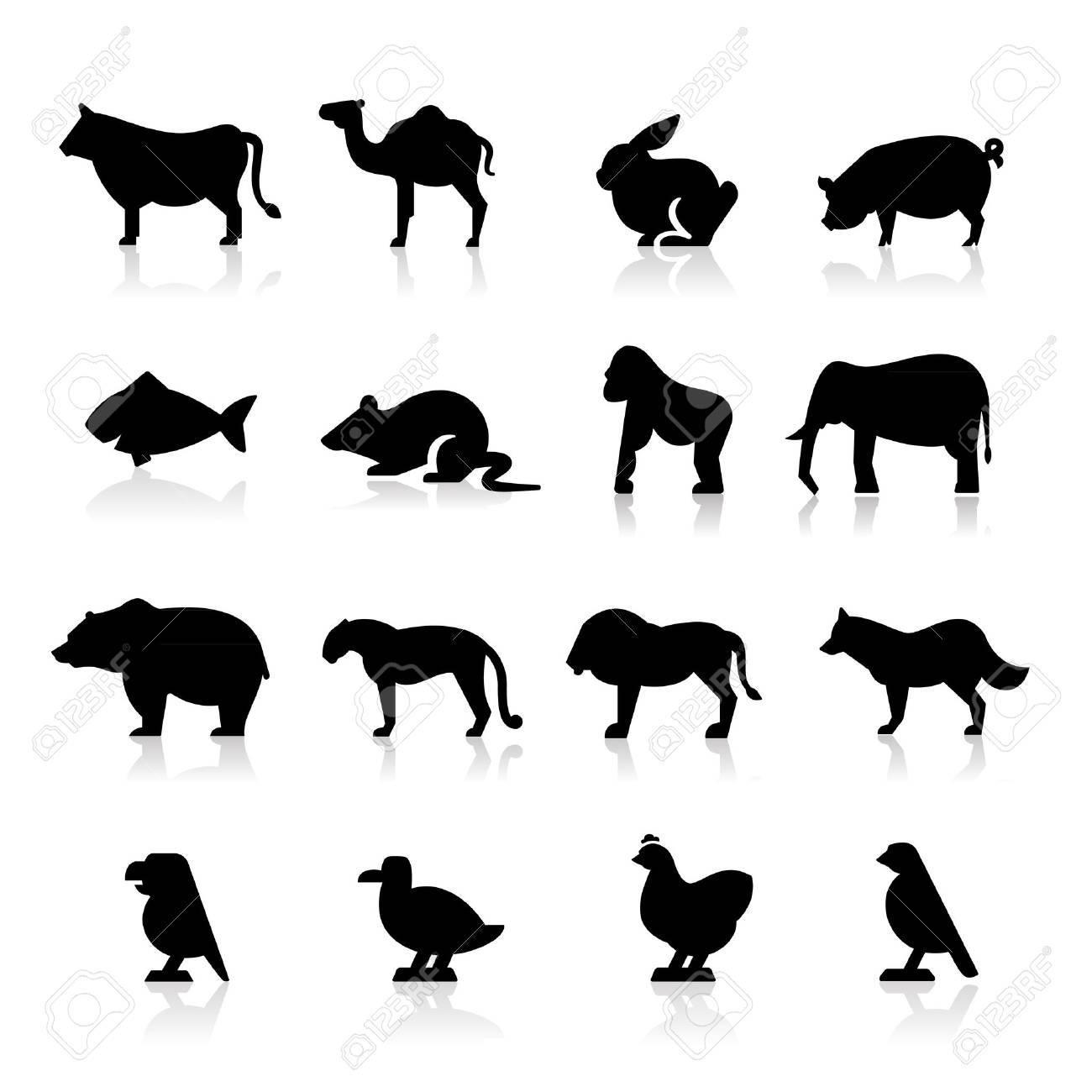 Animals icons Stock Vector - 14676397