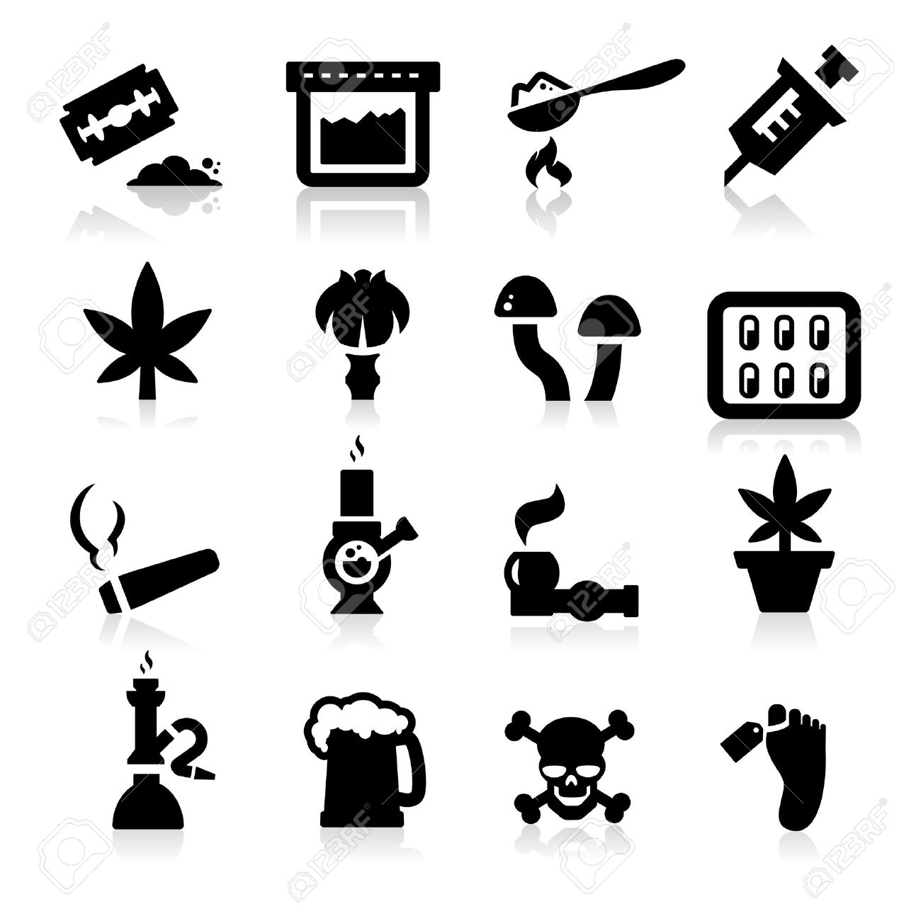 Drugs icons Stock Vector - 14676389