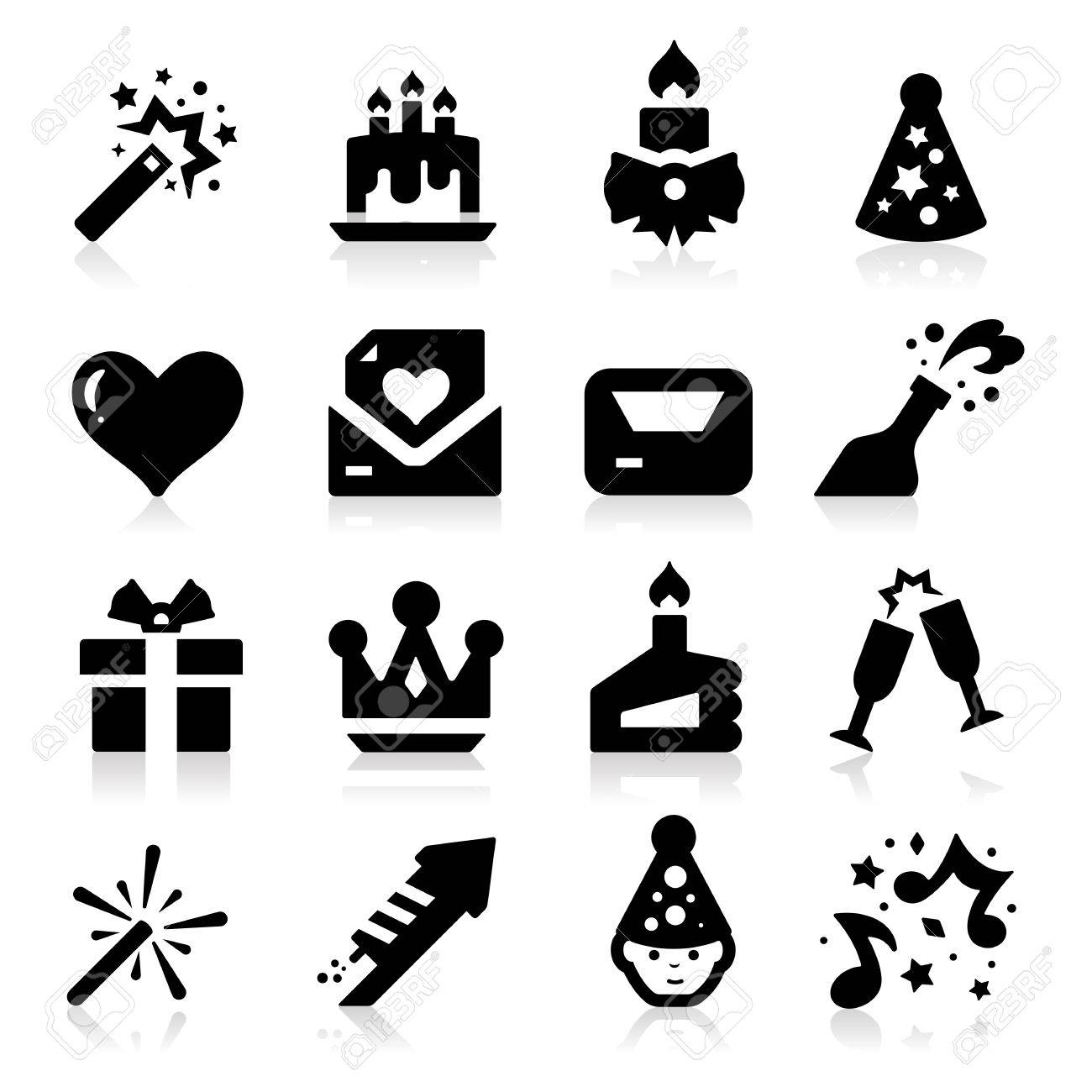 Celebration Icons Stock Vector - 17794104