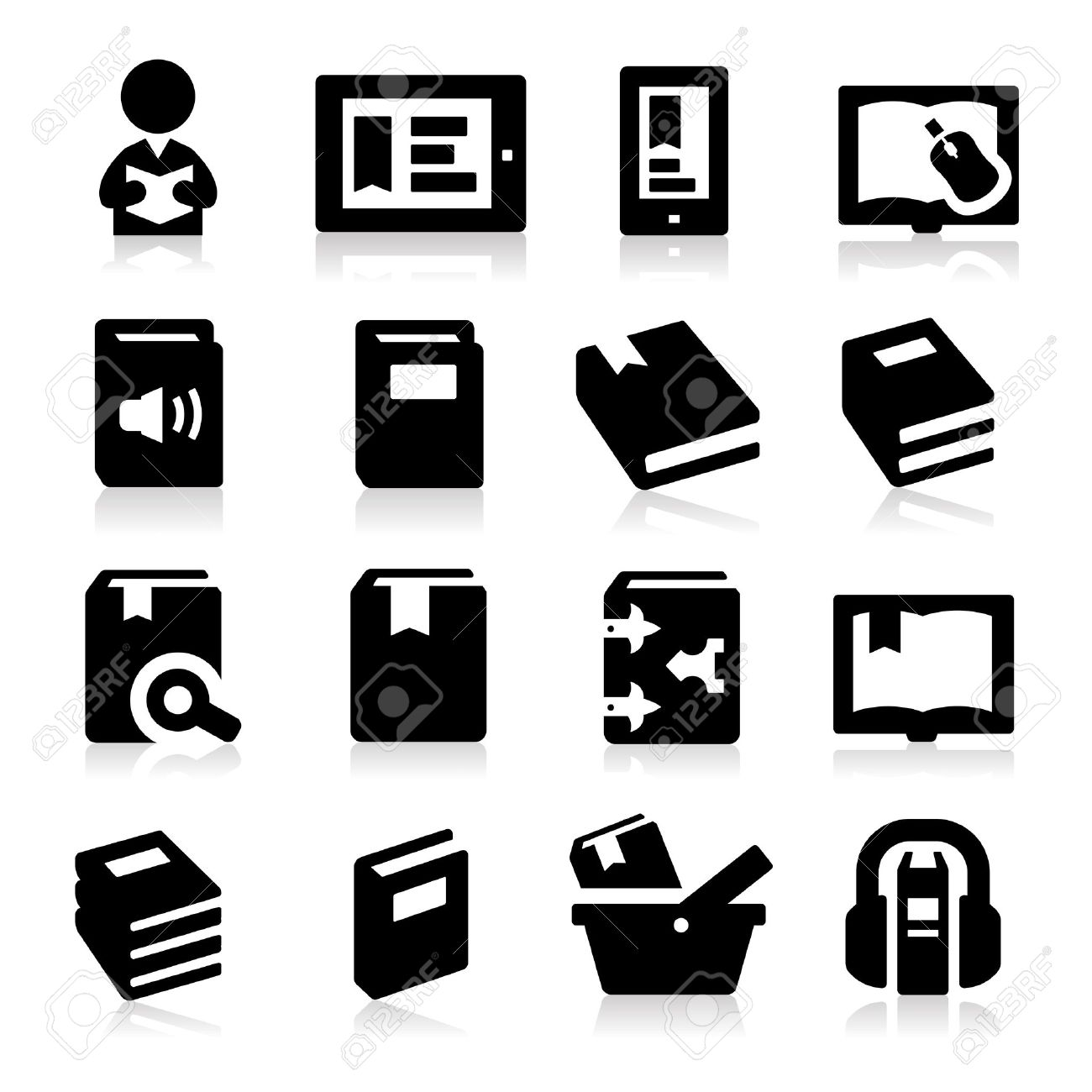 Book icons Stock Vector - 17794092