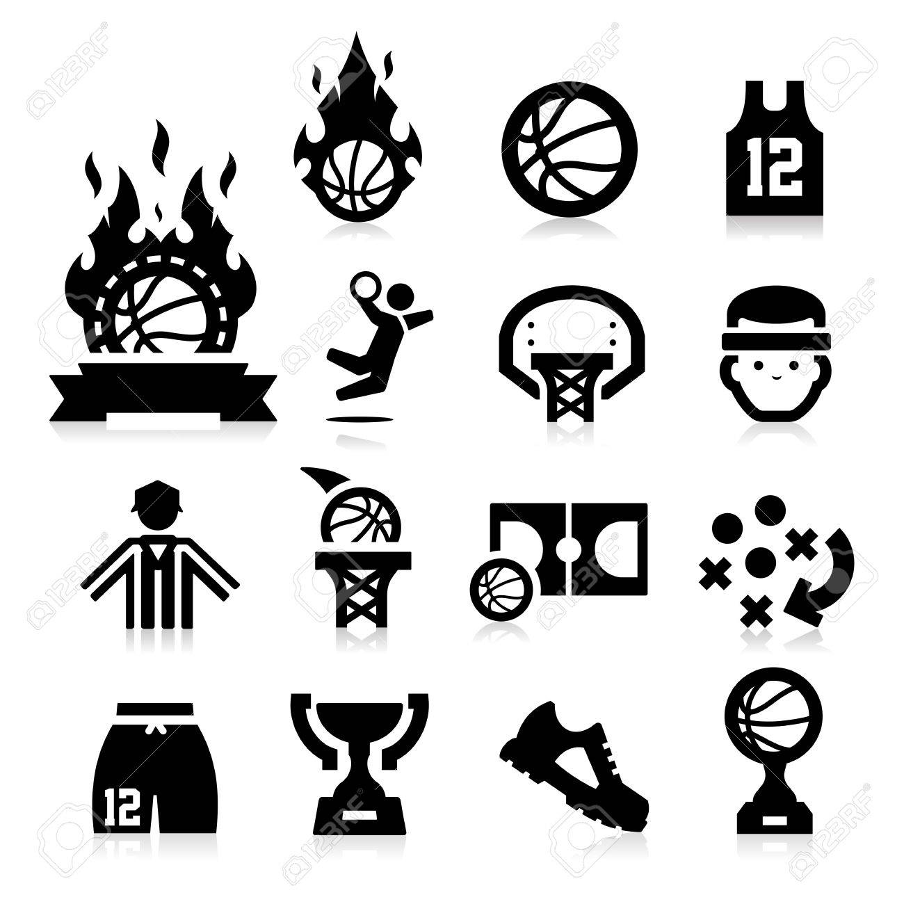 Basketball Icons Stock Vector - 17794125