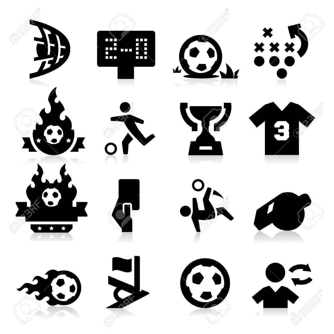 Soccer Icons Stock Vector - 17794124