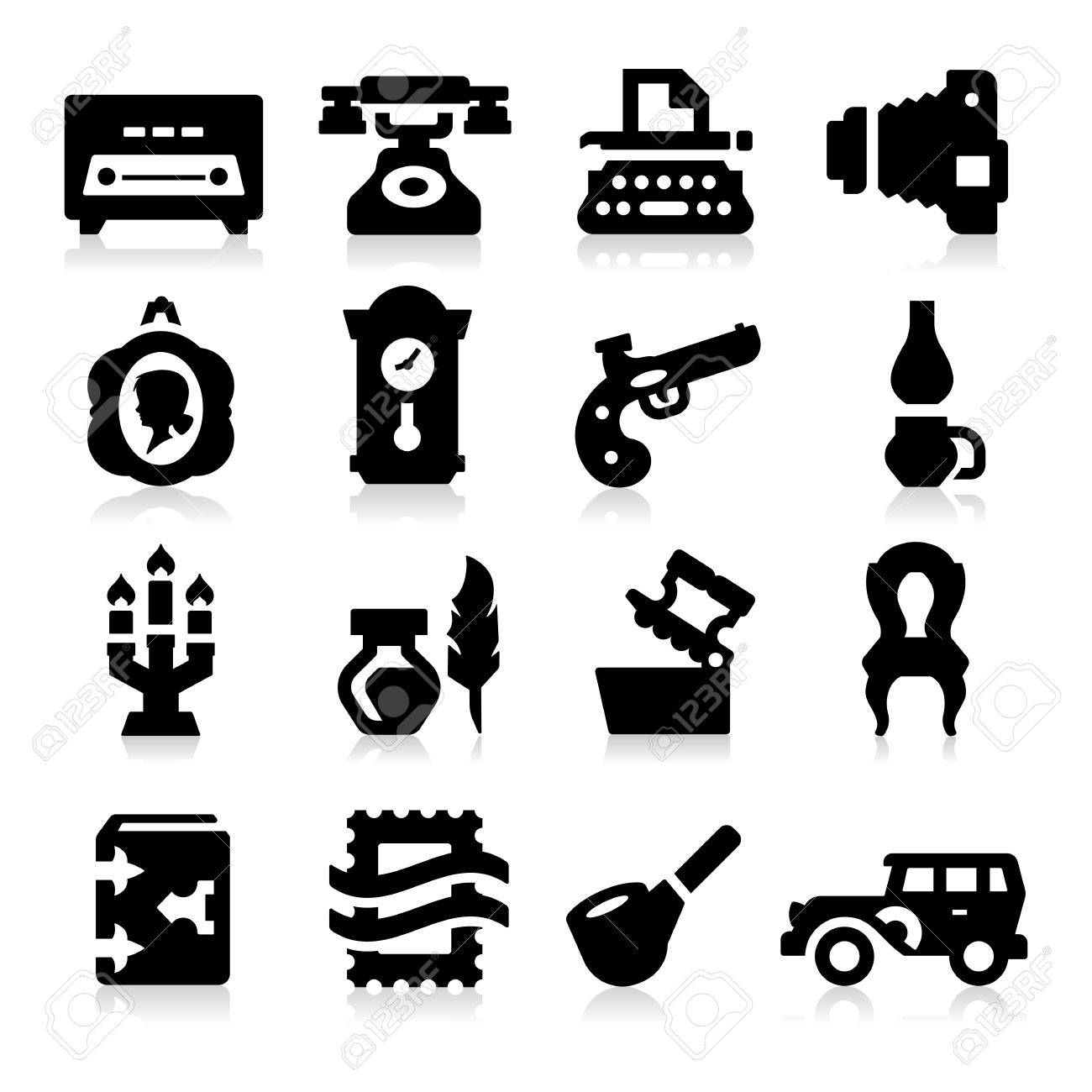 Vintage Icons Stock Vector - 18214548