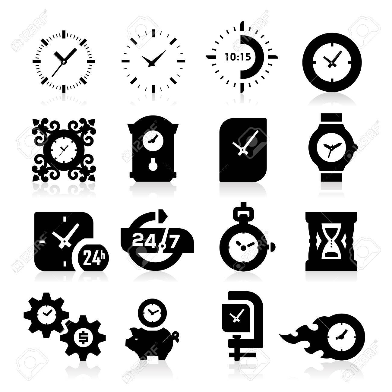 Time Icons Stock Vector - 19187501