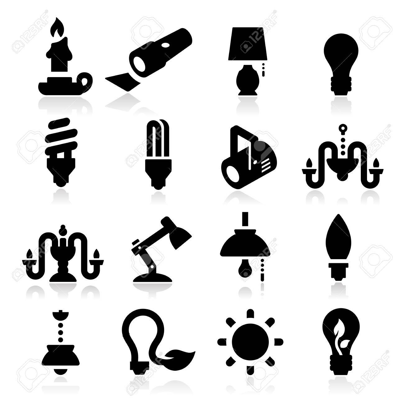 Light Icons Stock Vector - 20984913