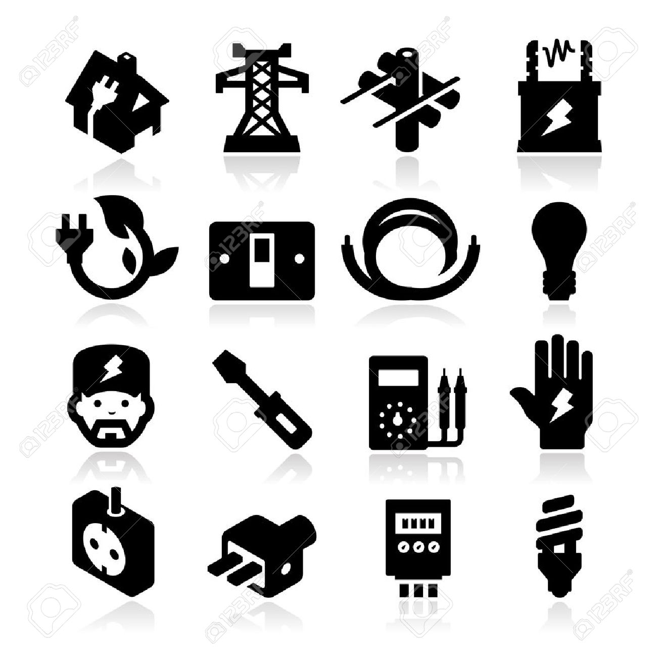 electricity Icons - 20984915